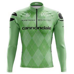Camisa Ciclismo Mountain Bike Cannondale Drapac Manga Longa