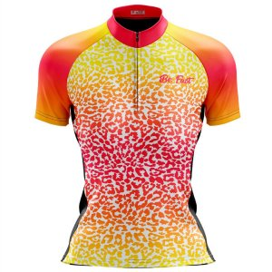 Camisa Ciclismo Mountain Bike Feminina Onça Colors