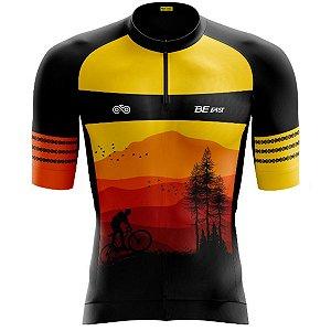 Camisa Ciclismo Masculina Smart Bike Montanhas Zíper Parcial