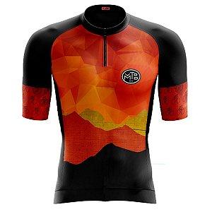 Camisa Ciclismo Masculina Smart Caminho do Sol Zíper Parcial