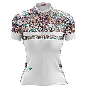 Camisa Ciclismo Mountain Bike Feminina Mistura Bikes MOD 225