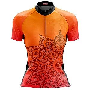 Camisa Ciclismo Mountain Bike Feminina Mandala