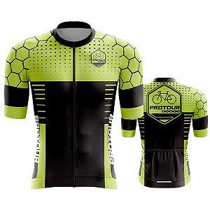 Camisa Ciclismo Pro Tour Premium Verde Colmeia Mountain Bike