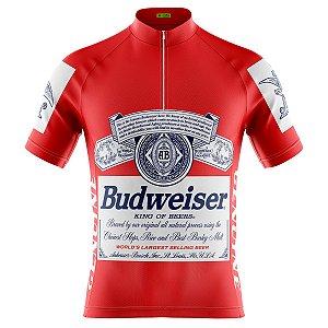 Camisa Ciclismo Masculina Manga Curta Budweiser mountain bike
