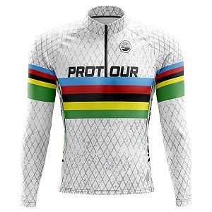 Camisa Ciclismo Mountain Bike Manga Longa Pro Tour UCI