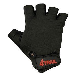 Luva Ciclismo 4trail Antiderrapante Dedo Curto All black