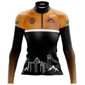 Camisa Ciclismo MTB Feminina Pro Tour Caminho da Fé Dry Fit UV+