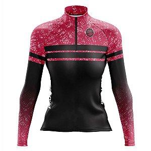Camisa Ciclismo Mountain bike Feminina Pro Tour Manchinhas dry fit proteção uv+50