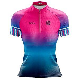 Camisa Ciclismo Mountain Bike Feminina Pro Tour Degrade