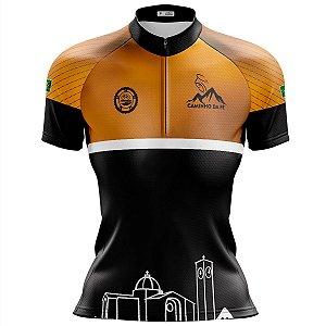 Camisa Ciclismo Mountain Bike Feminina Pro Tour Caminho da Fé
