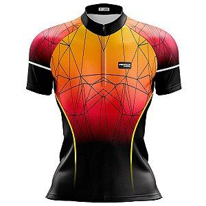 Camisa Ciclismo Mountain Bike Feminina Por do Sol