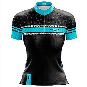Camisa Ciclismo Mountain Bike Feminina Pro Tour Elos Corrente