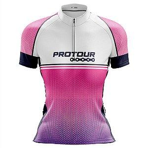 Camisa Ciclismo MTB Feminina Pro Tour Degrade Rosa