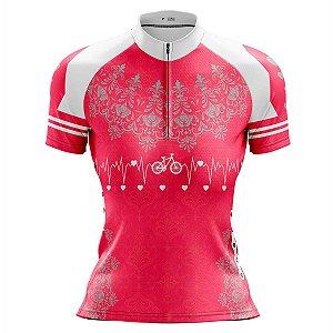 Camisa Ciclismo Mountain Bike Feminina Bike Pro Tour Coração 2.0
