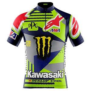 Camisa Ciclismo Masculina Mountain bike Kawasaki