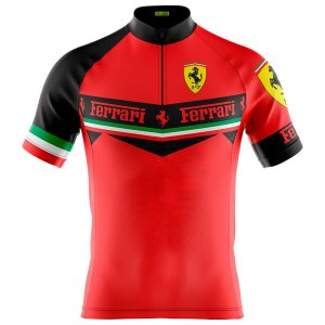 Camisa Ciclismo Masculina Mountain Bike Ferrari Escuderia