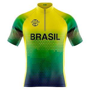 Camisa Ciclismo Masculina Mountain bike Pro Tour Seleção Brasil