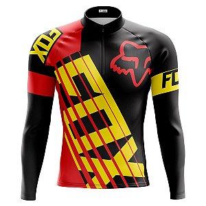 Camisa Ciclista Manga Longa Masculina Fox Racing