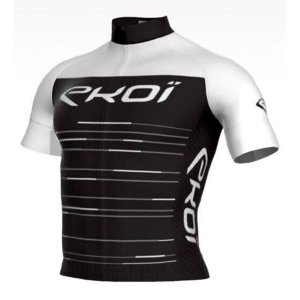 camisa ciclismo Masculina ERT Manga curta EKOI NOIR Branca