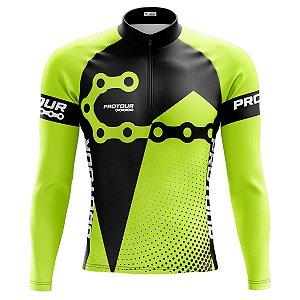 Camisa Ciclismo Masculina Mountain Bike Pro Tour Elos Manga Longa