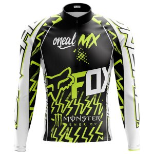 Camisa Ciclismo Masculina Mountain bike Fox Racing Manga Longa