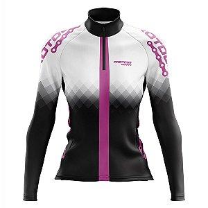 Camisa de Ciclismo Feminina Mountain Bike Pro Tour Aurora Manga Longa