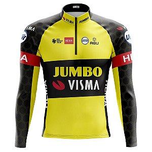 Camisa Ciclismo Masculina Mountain Bike Jumbo Visma Manga Longa