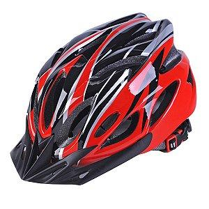 Capacete para ciclismo MTB / SPEED Vermelho Com Viseira