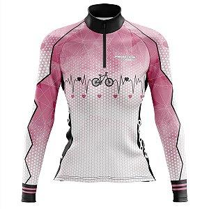 Camisa de Ciclismo Feminina Mountain Bike Pro Tour Bicicleta Manga Longa