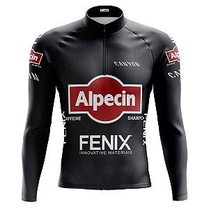 Camisa Ciclismo Masculina Mountain Bike Alpecin Manga Longa
