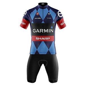 Conjunto Masculino Ciclismo Bermuda e Camisa Garmin Sharp