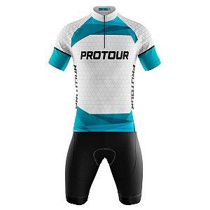 Conjunto Masculino Ciclismo Bermuda e Camisa Pro Tour Oasis