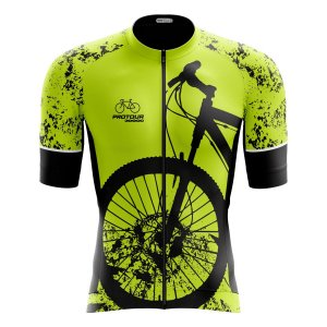 Camisa Ciclismo Pro Tour Premium Bike Amarelo Flúor Zíper Total