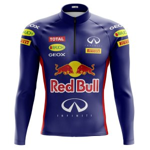 Camisa Ciclismo Mountain Bike Red Bull Manga Longa