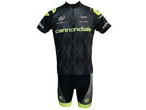 Conjunto Ciclismo Mountian Bike Bermuda e Camisa Cannondale