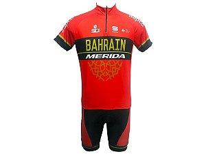 Conjunto Ciclismo Mountain Bike Bermuda e Camisa Merida Bahrain