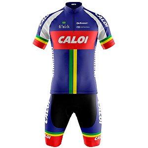 Conjunto Ciclismo Mountain Bike Bermuda e Camisa Caloi Team