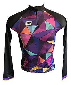 Camisa Feminina M.Longa Ciclismo Passeio Speed Ciclo Turismo Gelatina
