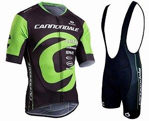 Conjunto Ciclismo Bretelle e Camisa Cannondale Team 2019