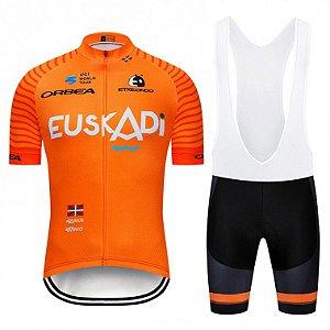 Conjunto Ciclismo Bretelle e Camisa Euskadi 2019
