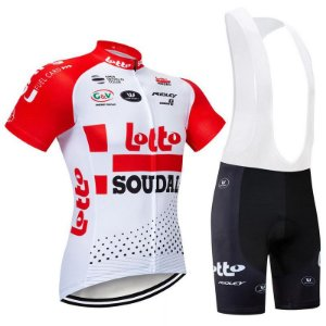 Conjunto Ciclismo Bretelle e Camisa Lotto Soudal 2019