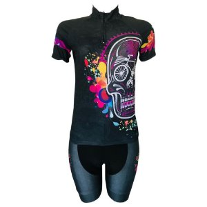 Conjunto Ciclismo MTB Feminino Caveira Mexicana