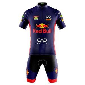 Conjunto Ciclismo Mountain Bike Bermuda e Camisa Red Bull