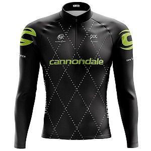 Camisa Ciclismo Mountain Bike Cannondale Team Manga Longa
