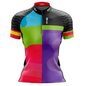 Camisa Ciclismo Mountain Bike Feminina Colors News