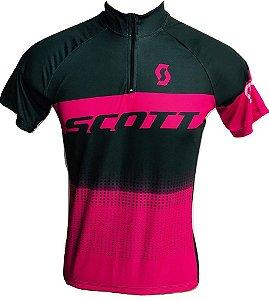 Camisa Ciclismo MTB Feminina Scott Rosa Choque