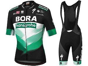 Conjunto Ciclismo Mountain Bike Bretelle e Camisa Bora Forro em Gel