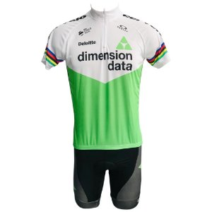 Conjunto Ciclismo Mountain Bike Bermuda e Camisa Dimension Data