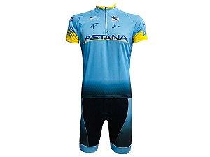 Conjunto Ciclismo Mountain Bike Bermuda e Camisa Astana