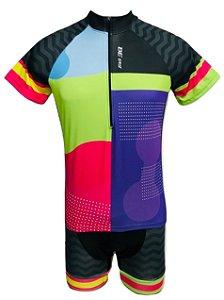 Conjunto Ciclismo Feminino Bermuda e Camisa Colors